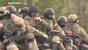 Video «Mindestens 30 Tote bei Gefechten in Slawjansk» abspielen