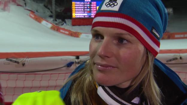 Video «Ski: Slalom der Frauen, Interview mit Marlies Schild (sotschi direkt, 21.02.2014)» abspielen
