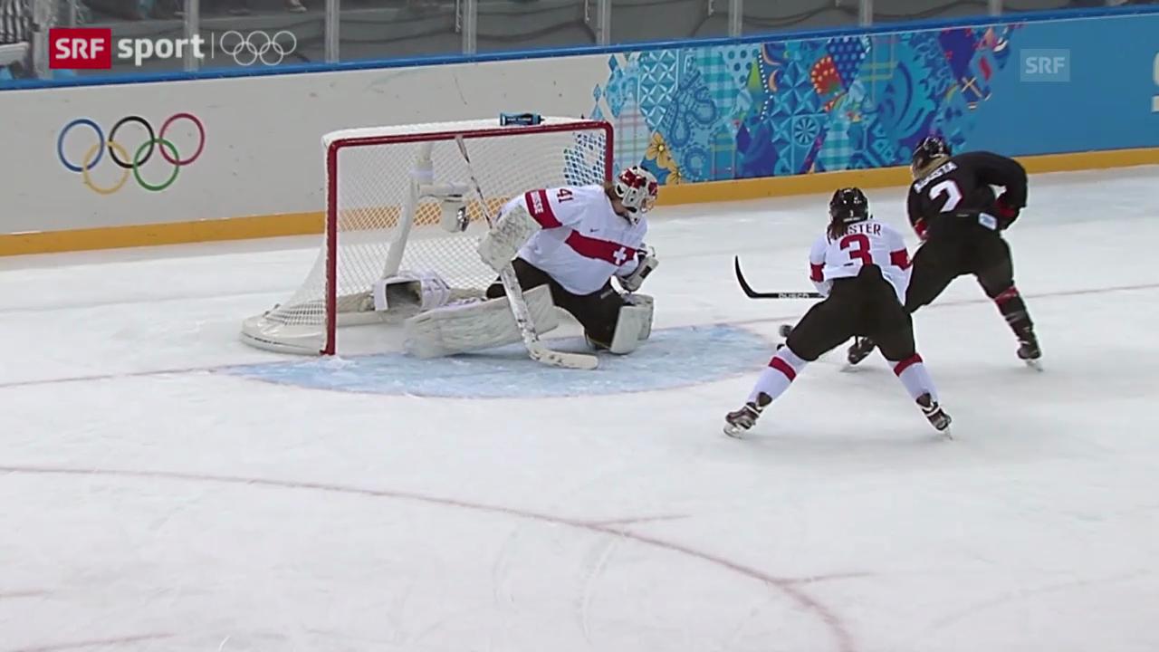 Eishockey: Frauen, Kanada-Schweiz («sotschi aktuell», 8.2.2014)