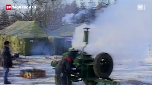 Januar 2012: Kältehoch «Cooper» nimmt Europa in die Zange.