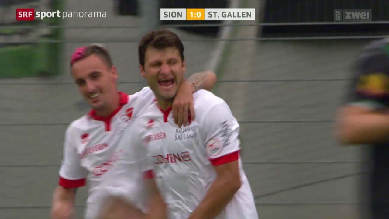 Fussball: Super League, Sion - St. Gallen