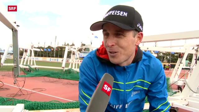 Marathon: Viktor Röthlin am Lake Biwa