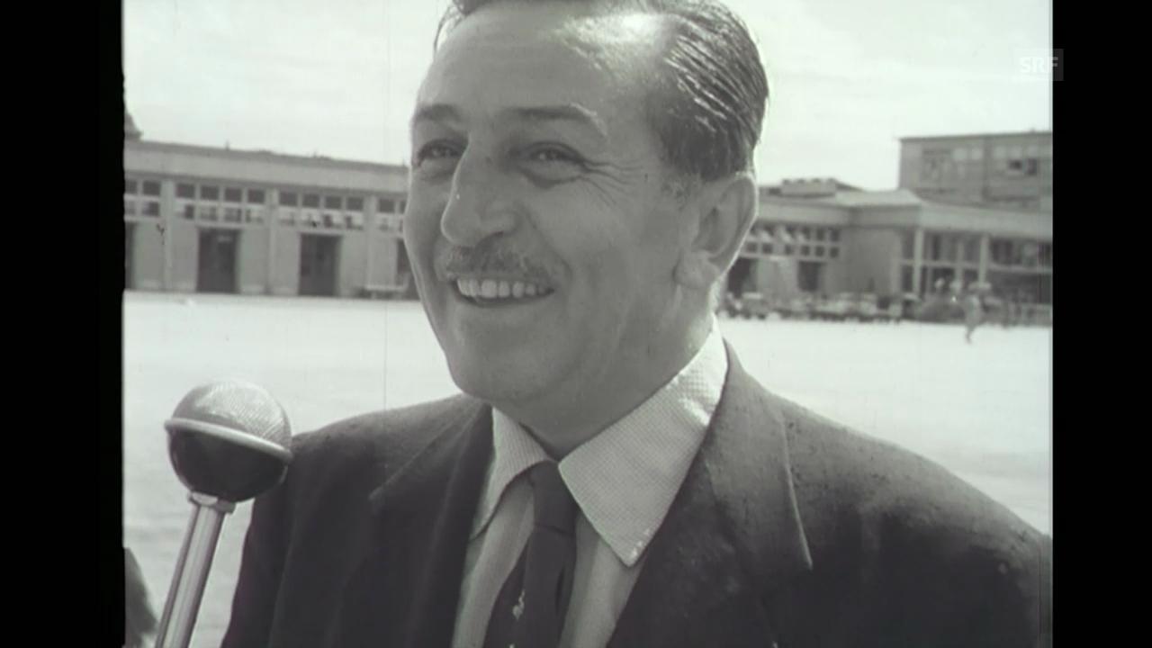 Walt Disney in Genf, Filmwochenschau vom 22.8.1952