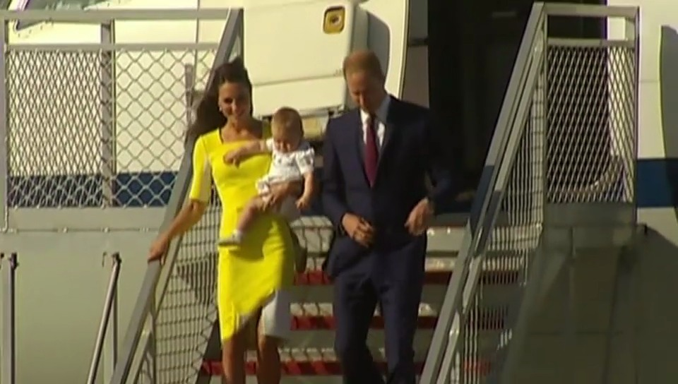 Kate, William und George in Australien