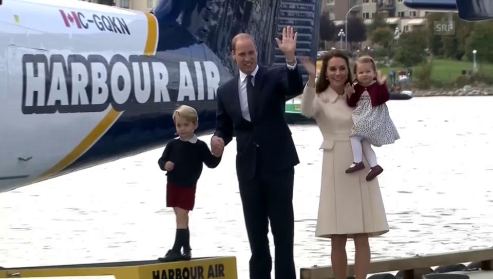 Die britischen Royals fliegen wieder nach Hause