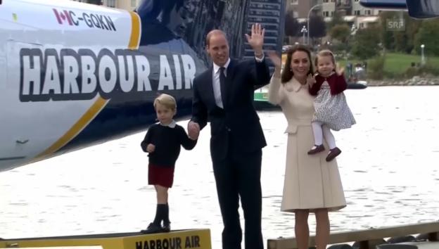 Video «Die britischen Royals fliegen wieder nach Hause» abspielen