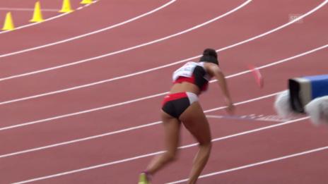 Video «Leichtathletik-EM: Kambundji verliert den Stab» abspielen