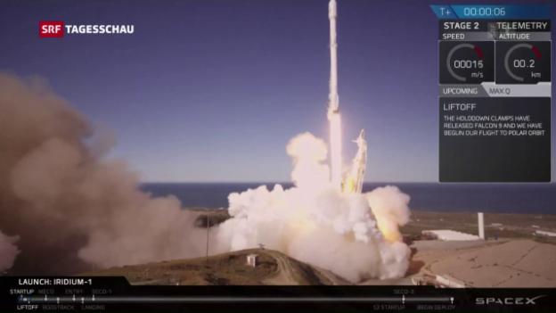 Video «Geglückter Start bei SpaceX» abspielen