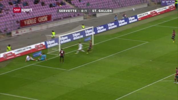 Video «Servette - St. Gallen» abspielen