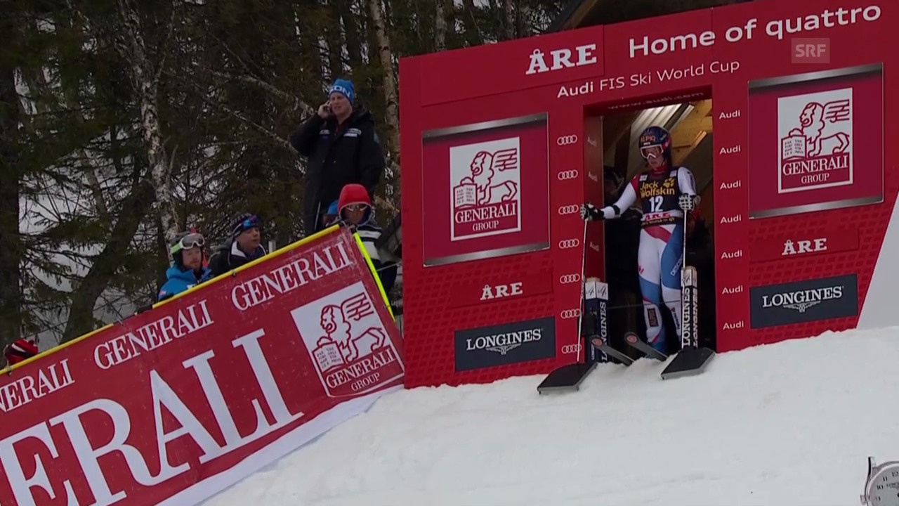Ski Alpin: Riesenslalom Frauen in Are, 1. Lauf Dominique Gisin («sportlive», 7.3.2014)