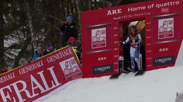 Video «Ski Alpin: Riesenslalom Frauen in Are, 1. Lauf Dominique Gisin («sportlive», 7.3.2014)» abspielen
