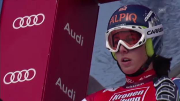 Video «Ski: Dominique Gisins Fahrt beim Super-G in St. Anton» abspielen