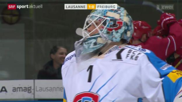 Video «Eishockey: Lausanne-Freiburg» abspielen