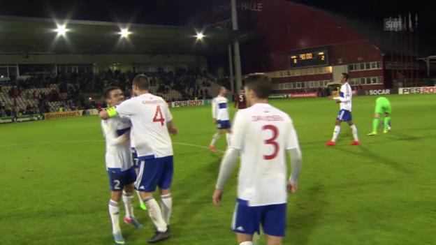 Video «Die Färöer überraschen auch in Lettland» abspielen