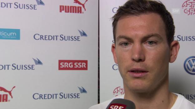 Video «Fussball: Stephan Lichtsteiner im Interview vor dem San-Marino-Spiel» abspielen