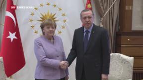 Video «Deutsche Kanzlerin zu Besuch in der Türkei» abspielen