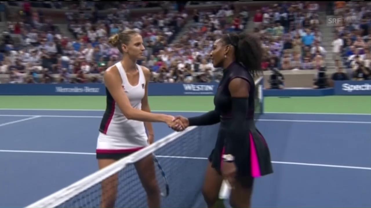 Pliskova schaltet Williams im US-Open-Halbfinal aus