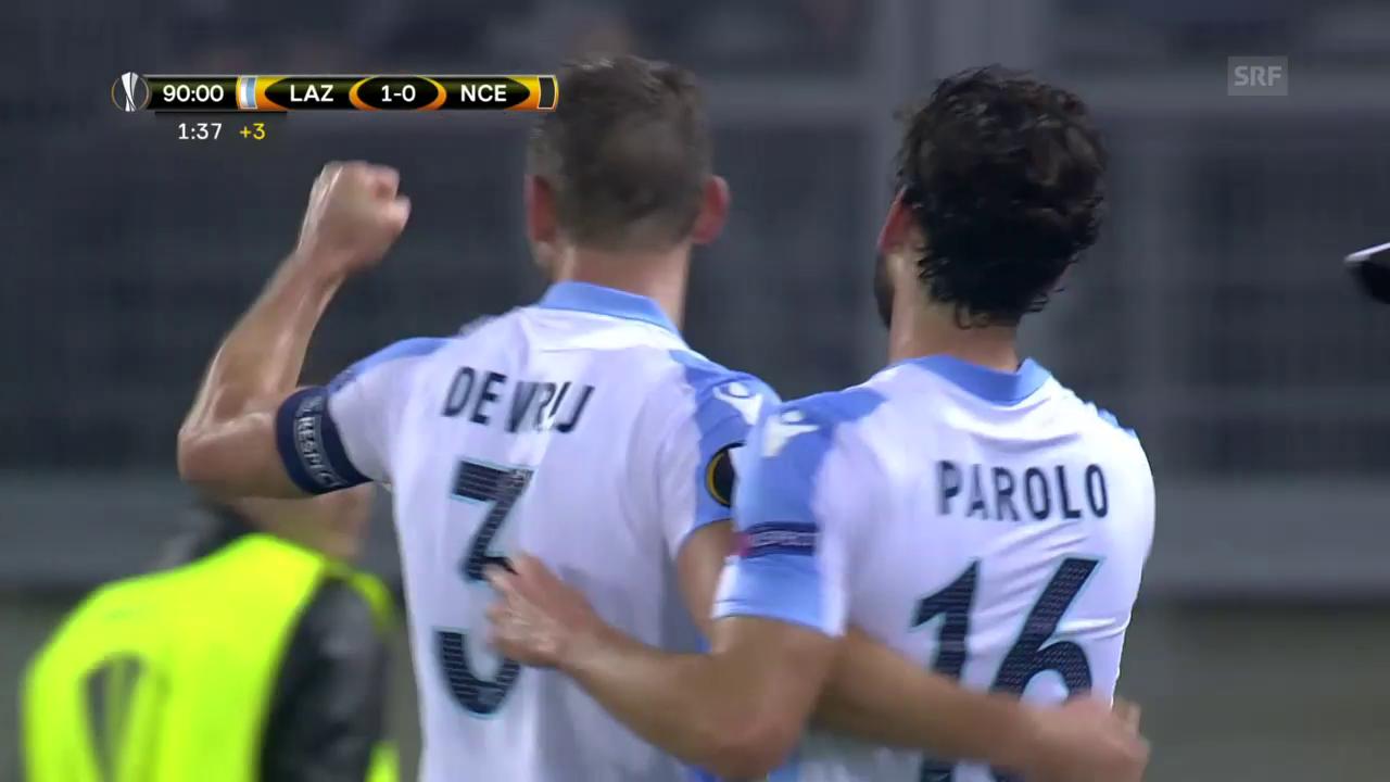Nizza unterliegt Lazio nach einem Last-Minute-Treffer