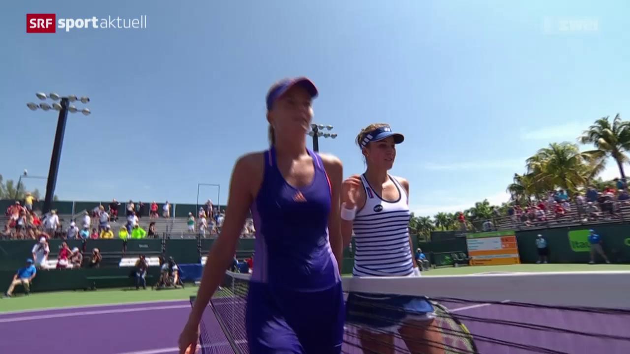 Tennis: WTA-Turnier in Miami, Bencic - Hantuchova
