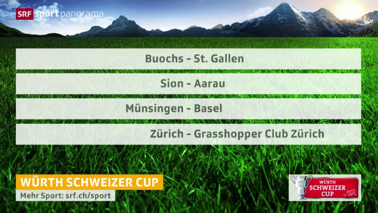 Fussball: Schweizer Cup, Auslosung Viertelfinals