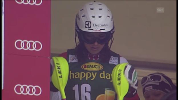 Video «Ski: Der 2. Lauf von Wendy Holdener beim Slalom in Maribor» abspielen