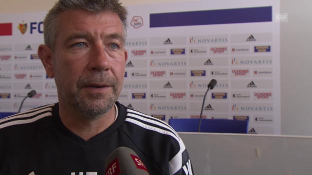 Video «Fussball: Urs Fischer über die Gruppengegner in der Europa League» abspielen
