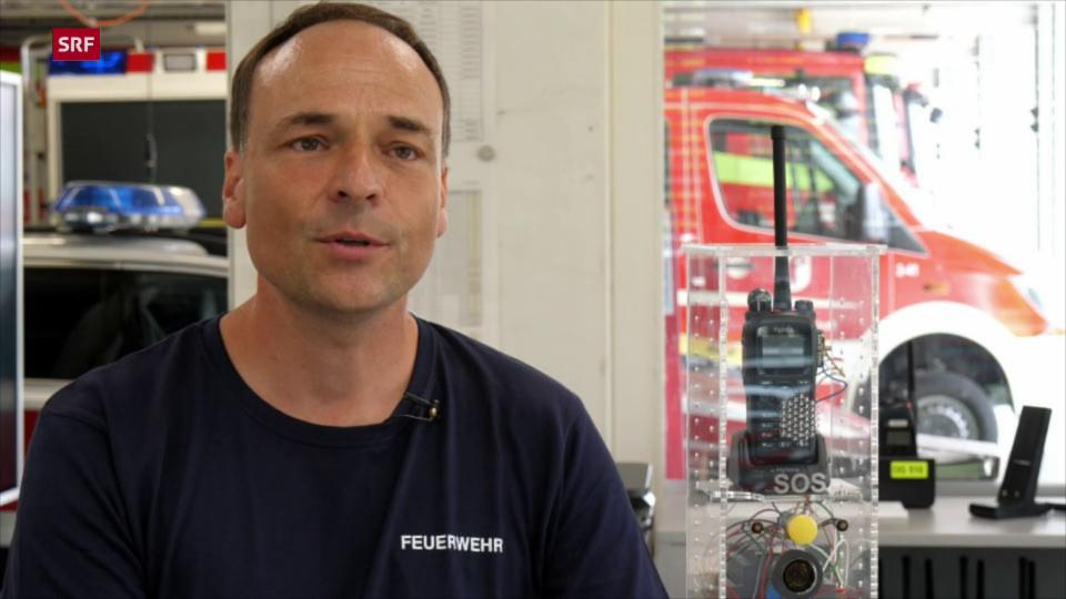 Feuerwehr-Kommandant & Notfunk-Tüftler Christoph Wyttenbach