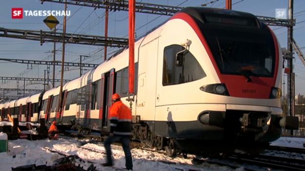 Video «SBB-Strecke Lenzburg-Aarau teilweise wieder offen» abspielen