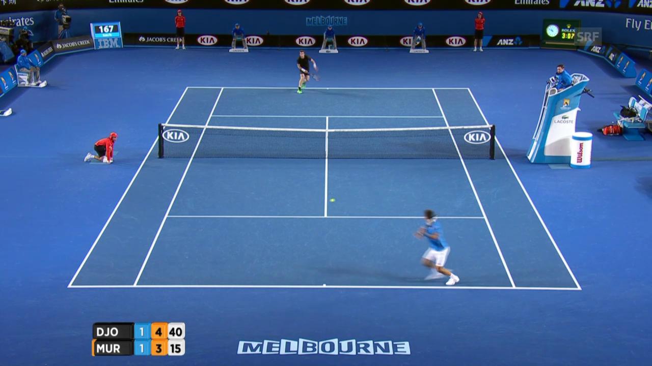 Tennis: Australian Open, Djokovic-Murray, Entscheidung im 3. Satz