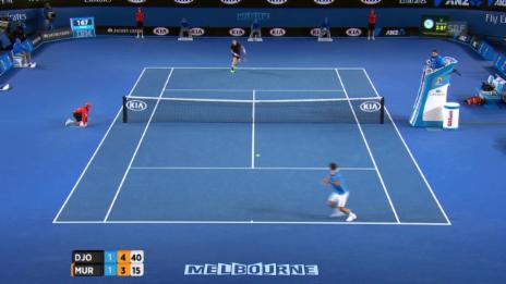 Video «Tennis: Australian Open, Djokovic-Murray, Entscheidung im 3. Satz» abspielen