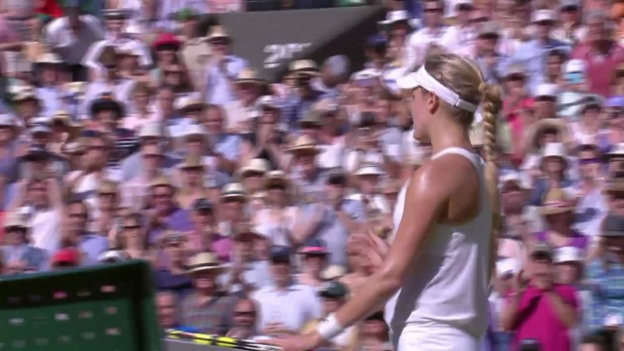 Video «Tennis: Wimbledon-Halbfinal, Bouchard - Halep: Satz- und Matchball» abspielen