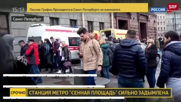 Video «Tote bei Anschlag in St. Petersburg» abspielen