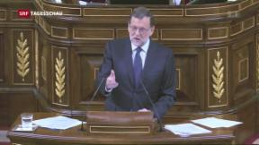 Video «Politblockade in Spanien vor dem Ende» abspielen