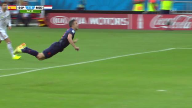 Video «FIFA WM 2014: Die Tore von Robin van Persie» abspielen