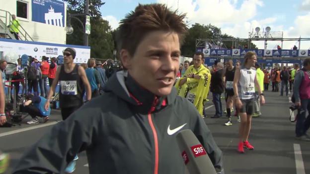Video «Leichtathletik: Berlin-Marathon 2015, Maja Neuenschwander im Interview» abspielen