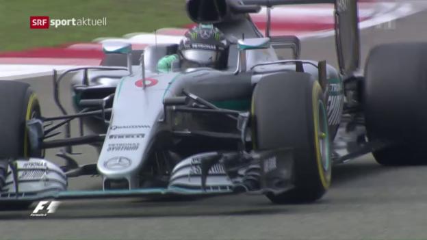 Video «Nico Rosberg holt sich auch in China die Pole Position» abspielen