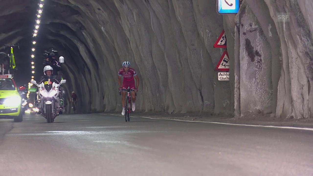 Tunneldurchfahrt TdS / 7. Etappe (Sport Live, 16.06.2017)
