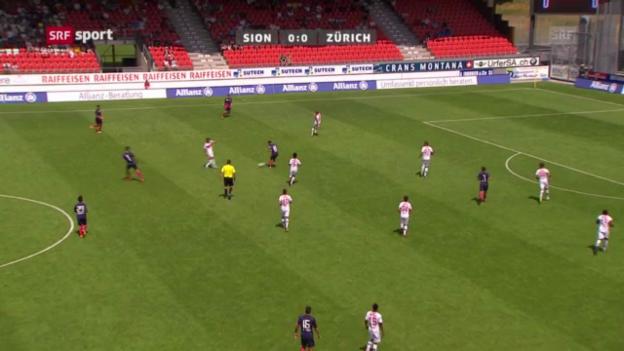 Video «Fussball: Zusammenfassung Sion - FCZ («sportpanorama»)» abspielen