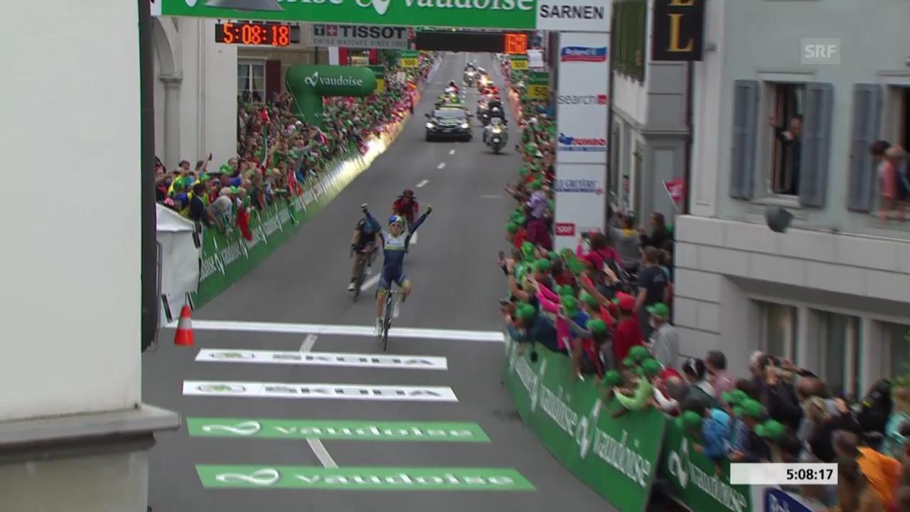 Rad: Tour de Suisse, Zieleinfahrt 2. Etappe