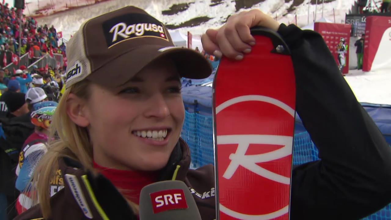 Ski Alpin: Slalom Lenzerheide, Interview mit Lara Gut («sportlive», 15.03.2014)