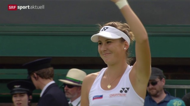 Video «Tennis: Wimbledon, Bencic - Mattek-Sands» abspielen