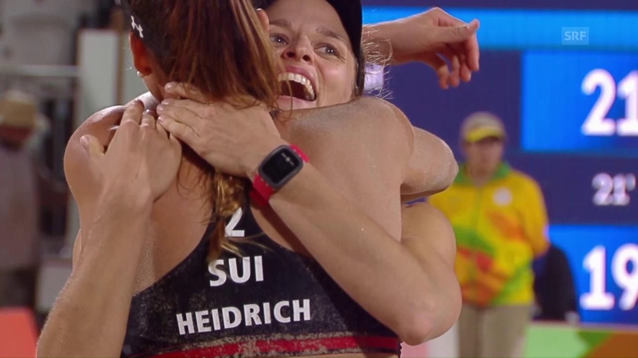 Heidrich/Zumkehr dank starker Leistung im Viertelfinal