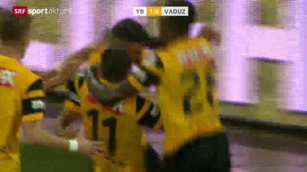 Video «Fussball: SL, YB-Vaduz» abspielen