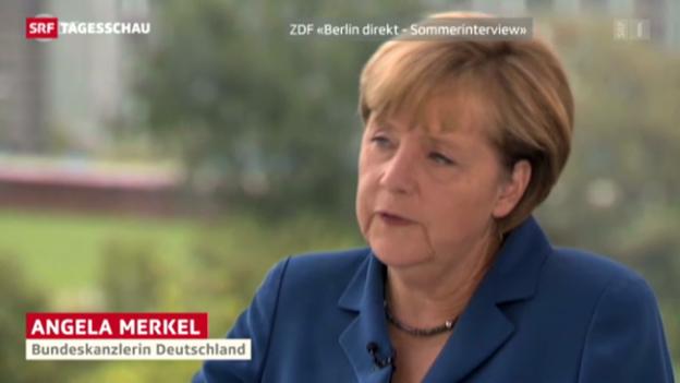 Video «Merkel zu Rüstungsexporten nach Ägypten» abspielen