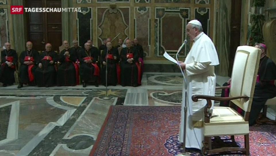 Papst kritisiert Kurie