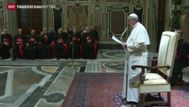 Video «Papst kritisiert Kurie» abspielen
