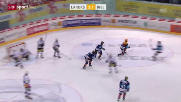 Video «Eishockey: Playout-Final Rapperswil-Jona Lakers - Biel» abspielen