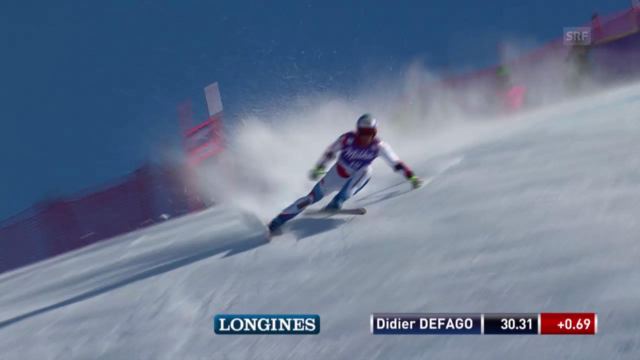 Didier Défagos Fahrt («sportlive», 13.03.2014)