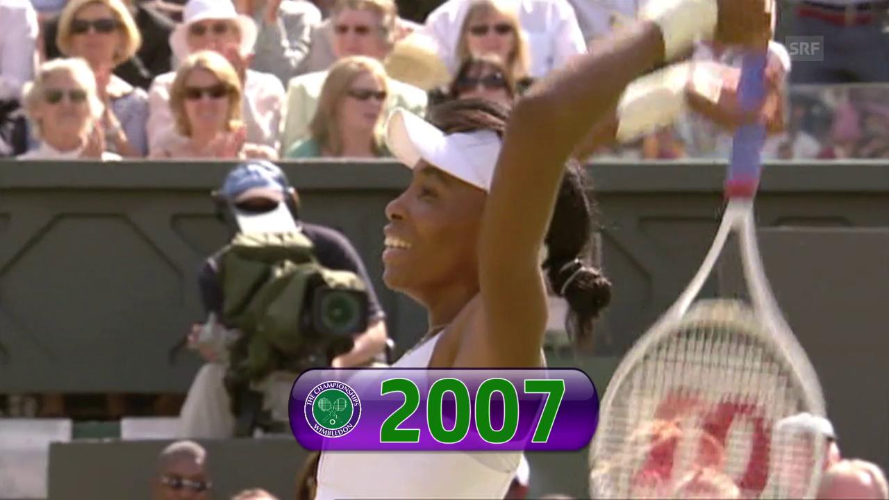 Die 5 Wimbledon-Triumphe von Venus Williams im Video