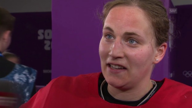 Video «Sotschi: Eishockey, Frauen-Nati, Interview mit Julia Marty» abspielen